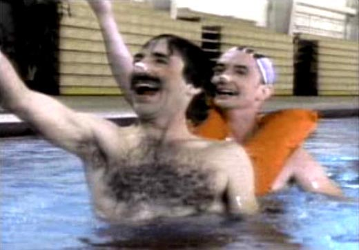 Martin short and harry shearer men s synchronized swimming