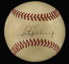 Lou Gehrig autographed ball