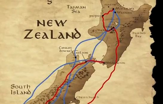 New Zealand Map Lord Of The Rings
