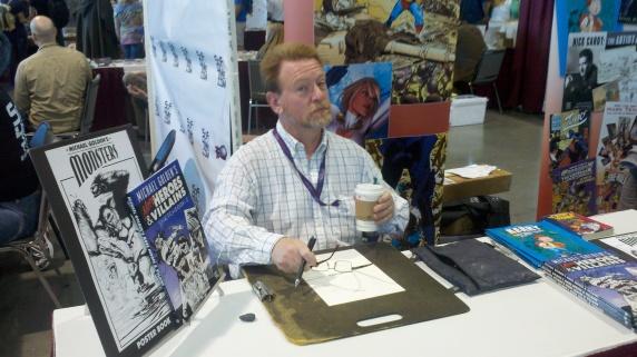 Michael Golden at Planet Comicon CJ Bunce