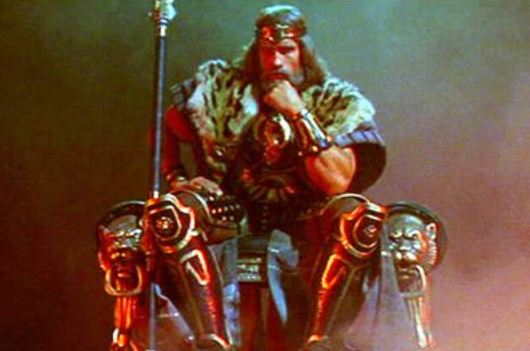 as Conan the Barbarian in Conan The Destroyer Throne