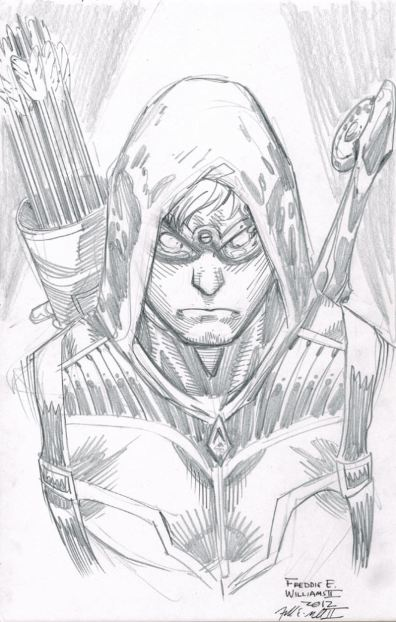 i - Green Arrow Coloring Pages