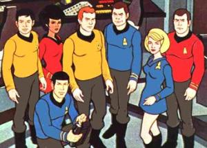Star Trek animated bridge crew