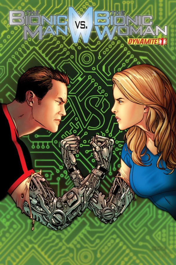 Bionic Man vs Bionic Woman Issue 1 Chen cover