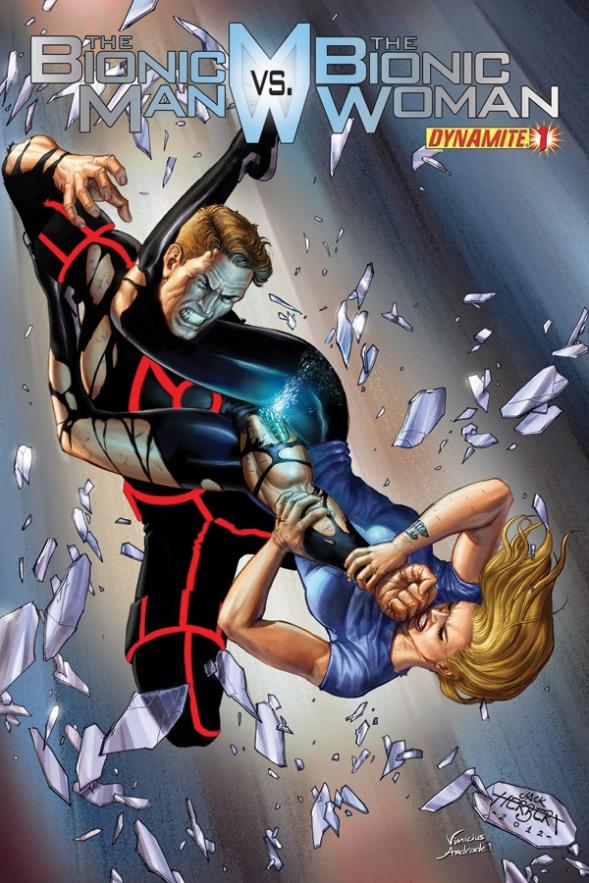 Bionic Man vs Bionic Woman Issue 1 Herbert cover