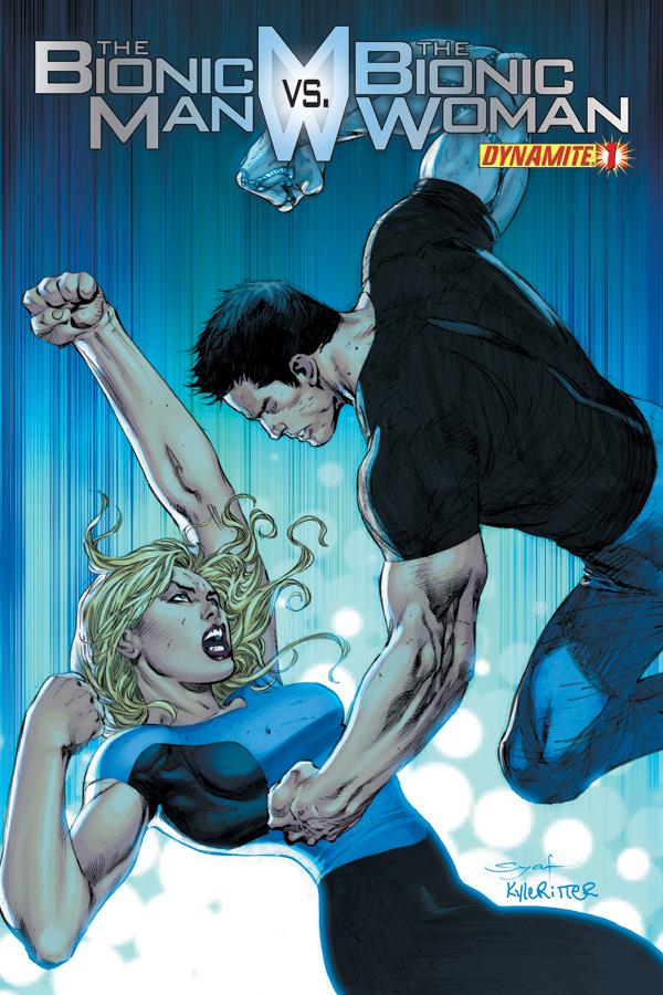 Bionic Man vs Bionic Woman Issue 1 Syaf cover