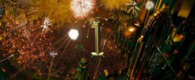 Oz the Great and Powerful fireworks