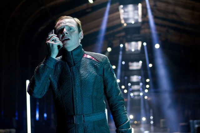 Simon Pegg in Star Trek Into Darkness copyright Paramount