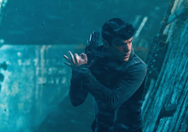 Spock in Bond pose Star Trek Into Darkness copyright Paramount
