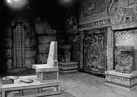 Swiveling 15th century Aztec tomb door as one of his finest achievements