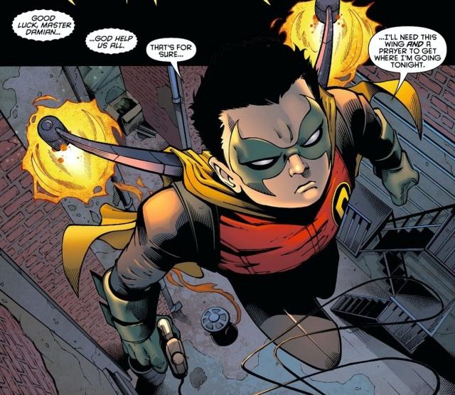 Damian Wayne as Robin in Night of the Owls
