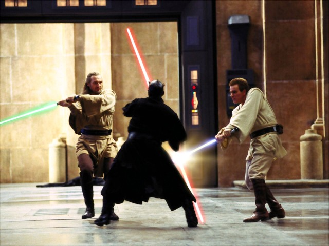 Ray Park in The Phantom Menace as Darth Maul
