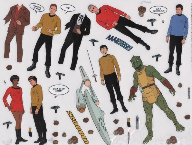 Stuck on Star Trek sticker sheet