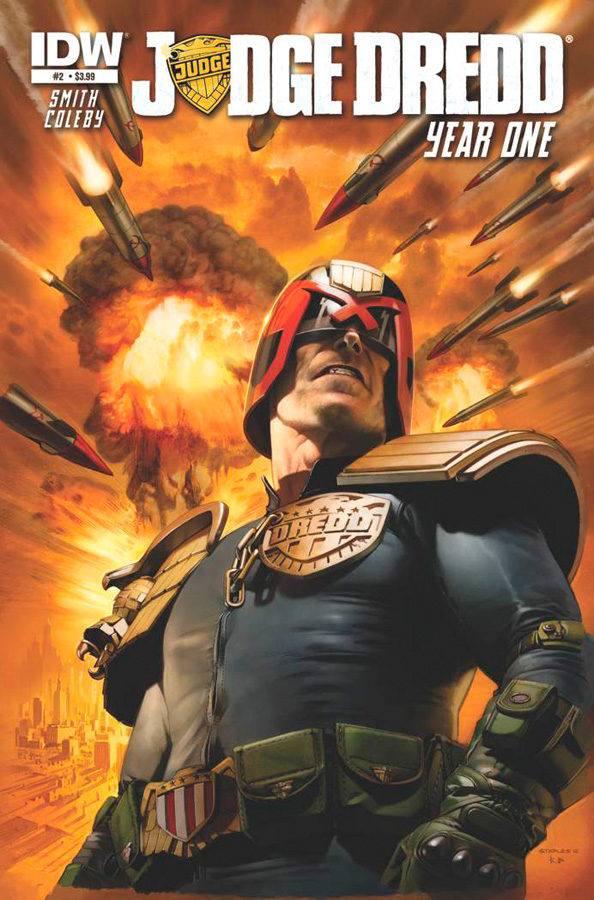 Judge Dredd Issue 2 Year One cover