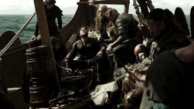 Life on a Viking longboat in Vikings series