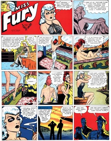 Original Miss Fury featuring the scheming Erica Von Kampf