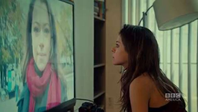 Orphan Black - watching herself or not