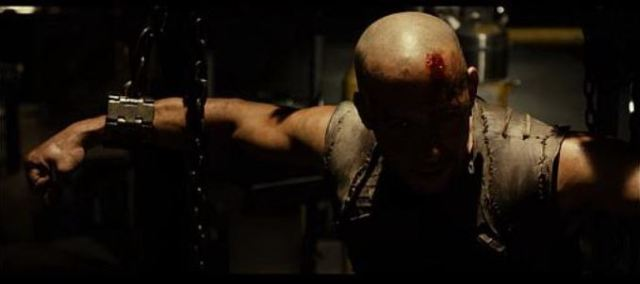 Riddick in chains