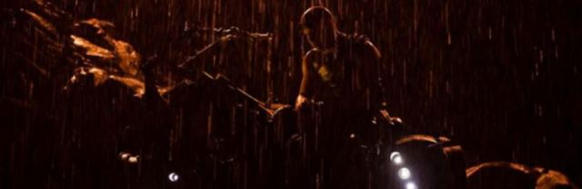 Riddick in rain