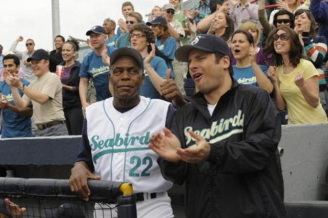Shawn with guest star Danny Glover