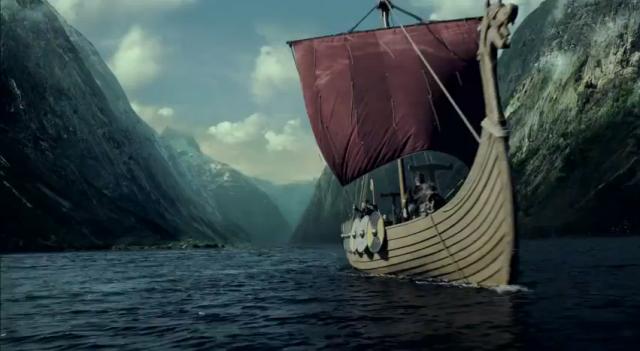 Viking longboat in Vikings on History Channel