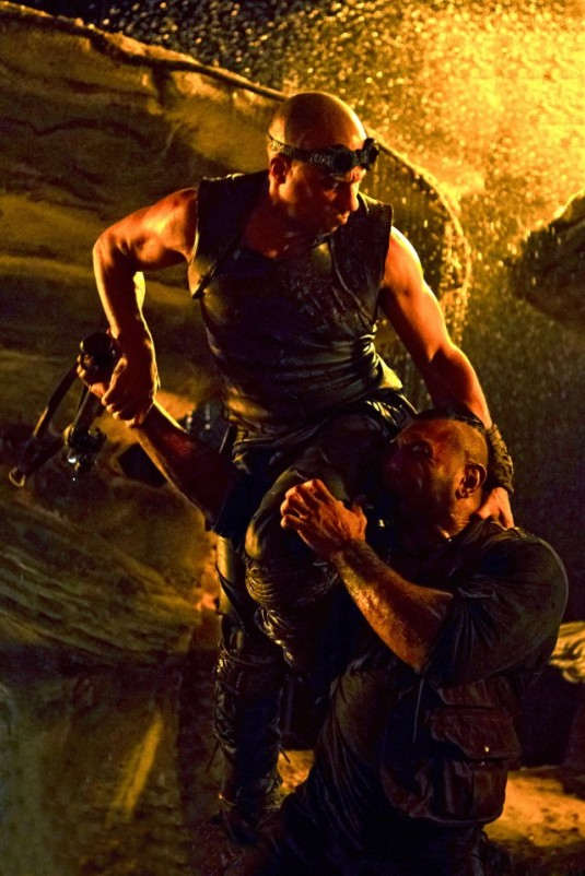 Vin Diesel and Dave Batista in Riddick