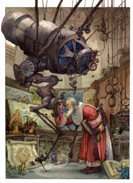 Wenzel Wizard's Tale incredible telescope