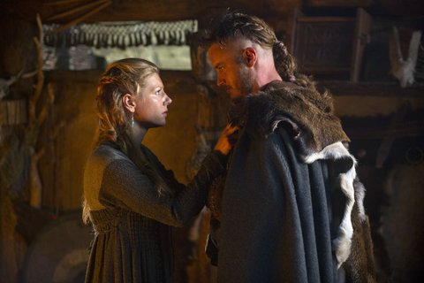 Winnick and Fimmel in Vikings