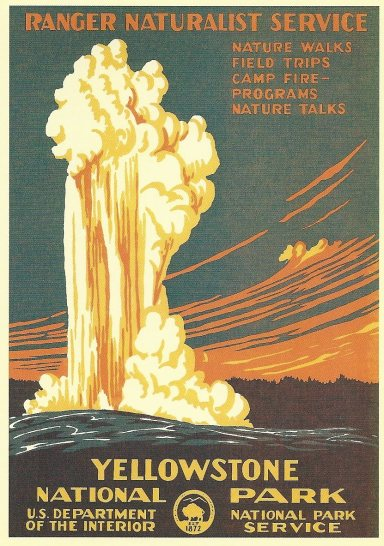 1990s recreation of 1938 National Park Service Poster