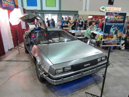Back to the Future DeLorean at Planet Comicon 2013