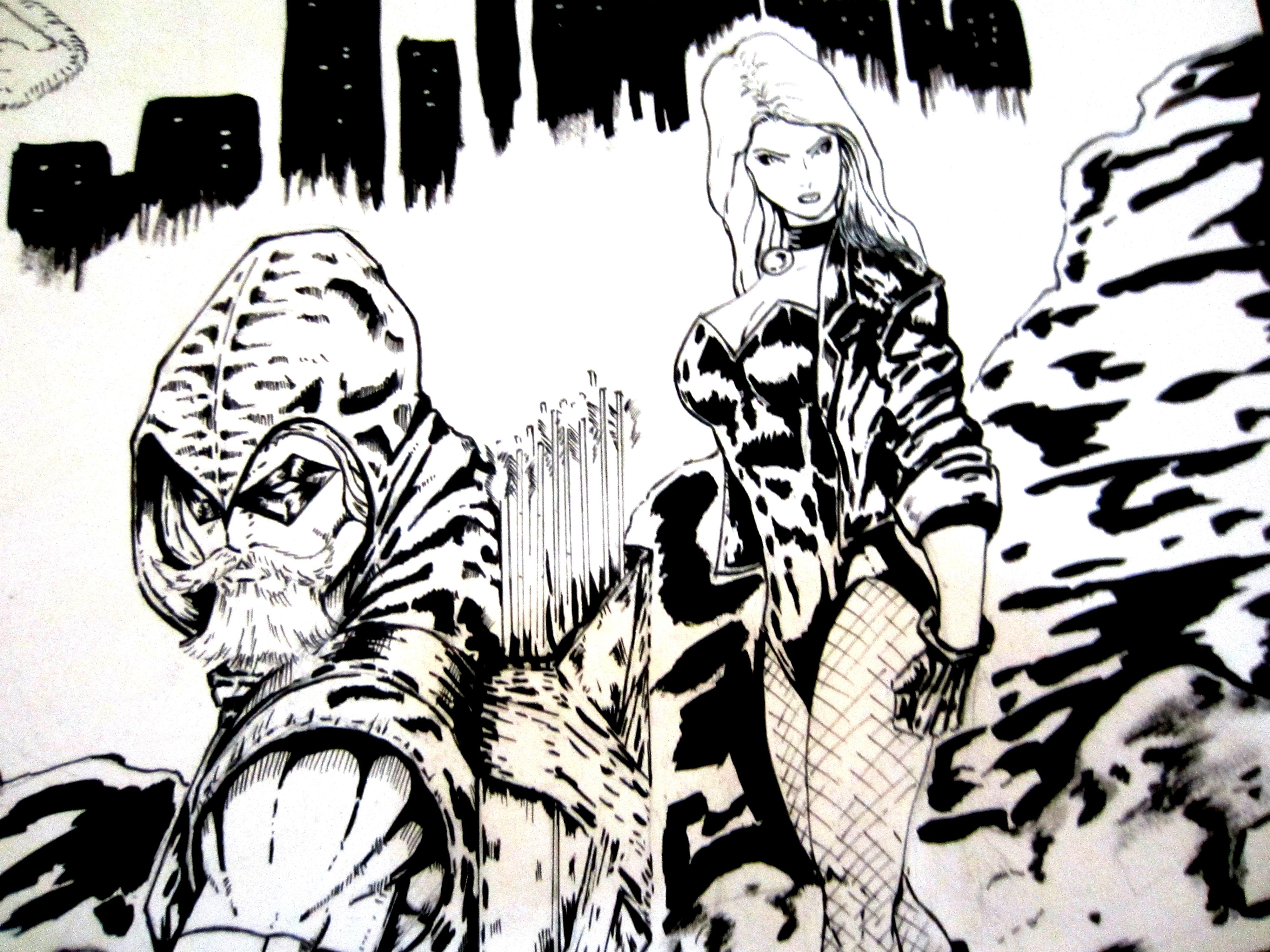 original comic art gallery�green arrow amp black canary and