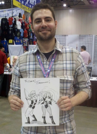 Dream Thief artist Greg Smallwood at Planet Comicon.