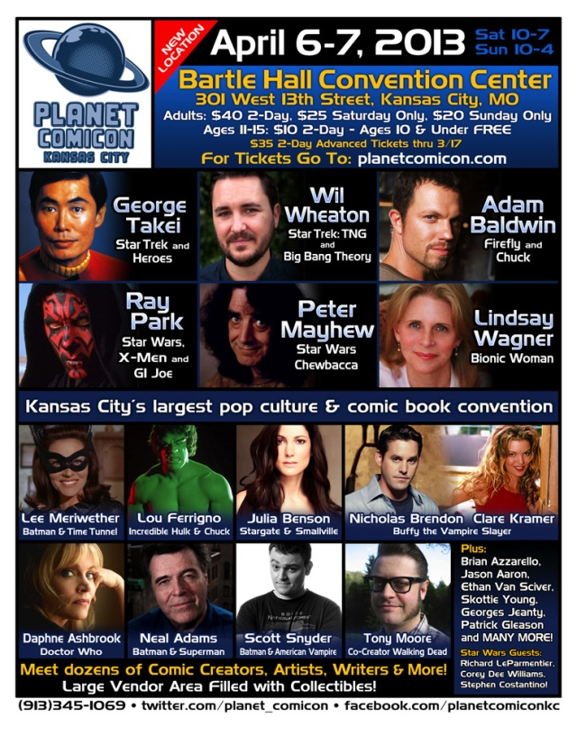 Planet Comicon 2013 flyer