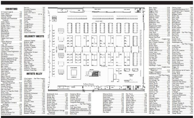 Planet Comicon full guest list map