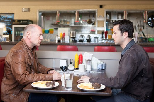 Young Joe meets old Joe in Looper