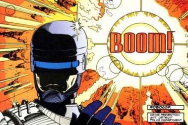 Boom RoboCop panel from early comic book series