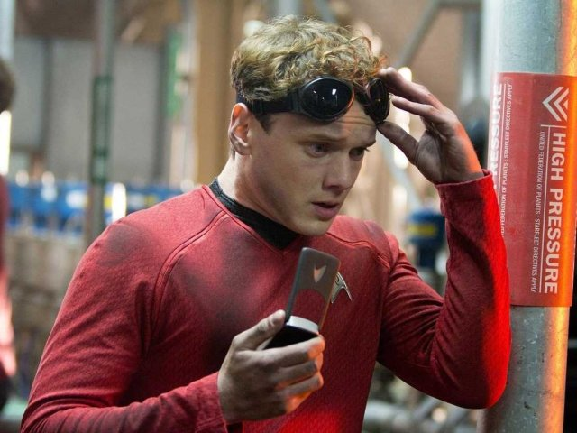 Chekov sporting the red shirt