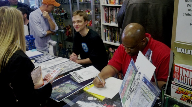 Damont Jordan and Nathan Reinke at Elite Comics FCBD 2013