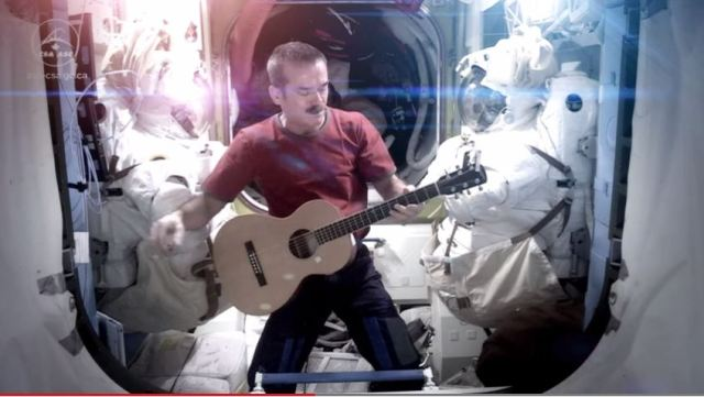 Ground control to Cmdr Hadfield