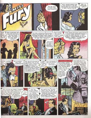 Miss Fury page from Tarpe Mills & Miss Fury anthology copyright IDW Publishing