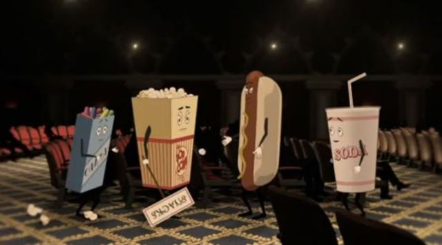 Movie concession food alone in theater