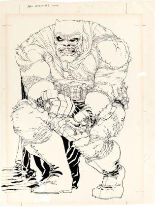 Dark Knight Returns original cover art full page Issue 2