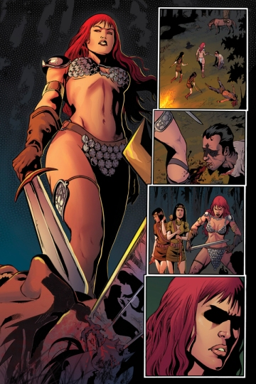 Red Sonja 1 interior art