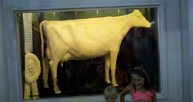 Iowa State Fair 2013 butter cow