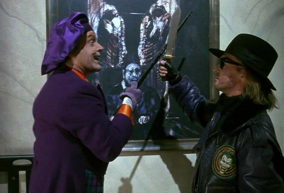 Joker graffiti in Batman 1989