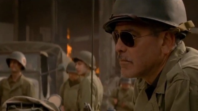 Yes thats Clooney in The Monuments Men