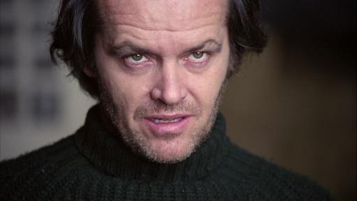 Nicholson in The Shining