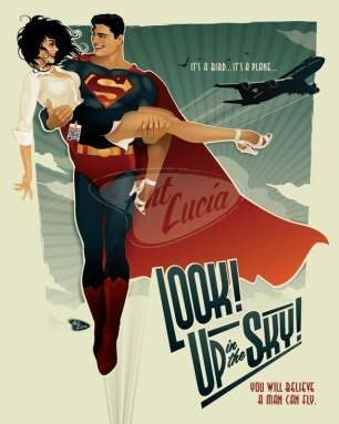 Ant Lucia Superman and Lois Lane