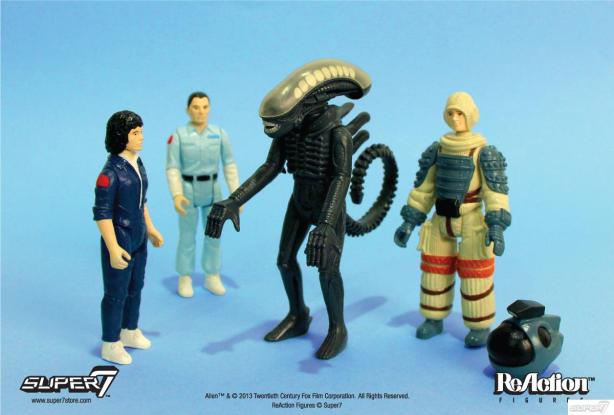 Alien retro action figures