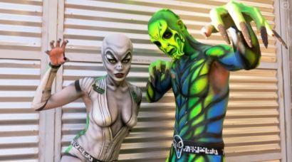 Aliens Naked Vegas